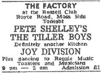 Advert from the Manchester Evening News